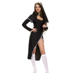 Sexy nun black dress. and headpiece