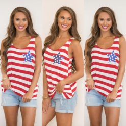 Woman shirt with American flag pattern