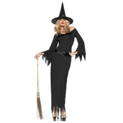 Long and glamorous witch costume