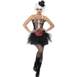 Lace-up sekeleton corset