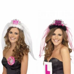 Bride to be tiara with veil to join the bachelorette party