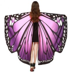butterfly wings costume with purple tones