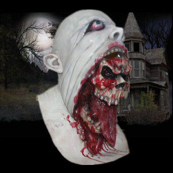 Charlie skull mask with a bloody burp