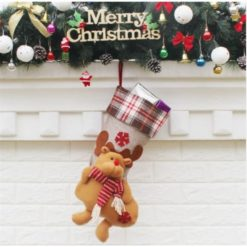 reindeer christmas stocking. Cute and beautiful to decorate the xmas party