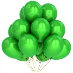 10 glowy green pearl balloons