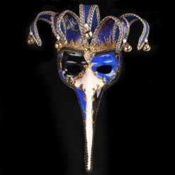 Long Nose venetian mask with a fancy shade of blue