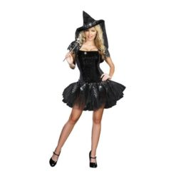 Shiny and short witch dress costume.