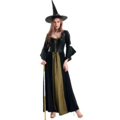 Long witch dress in a medieval style