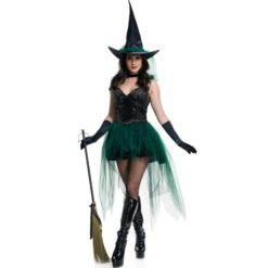 Emerald witch dress with sequins