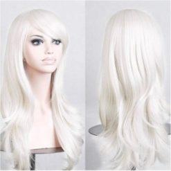 white hair wig in a fancy style