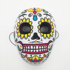 Sugar skull with white background and tons of vibrant colors