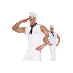 White sexy sailor suit costume