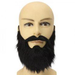 Black beard with mustache in a lumberjack style.