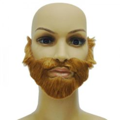 Red beard with a mustache