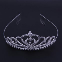Shining Bride heart tiara crown with cristals.