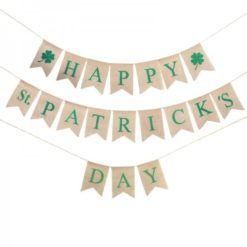 St. Patrick's Day banner with flags for each letter