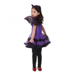purple bat girl halloween costume