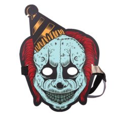 Clown mask with LED that is reactive to sound