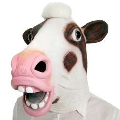 Big and friendly cow latex mask