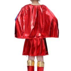 supergirl kids costume back