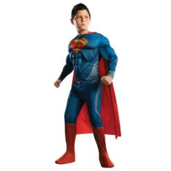Superman kids costume with red cover and muscles designed