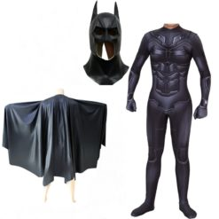 Batman adult costume: jumpsuit, cloack and mask. and