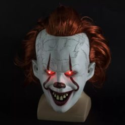 pennywise mask with red led eyes