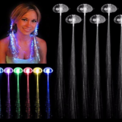 LED light fiber optic hair braid